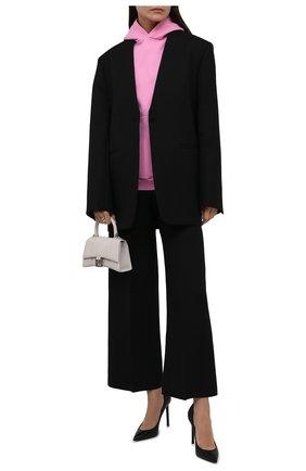 Женский хлопковое худи BALENCIAGA розового цвета, арт. 675003/TLV97 | Фото 2 (Длина (для топов): Стандартные; Материал внешний: Хлопок; Рукава: Длинные; Женское Кросс-КТ: Худи-одежда; Стили: Спорт-шик)