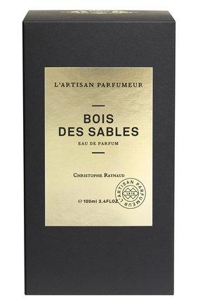 Парфюмерная вода bois des sables (100ml) L'ARTISAN PARFUMEUR бесцветного цвета, арт. 3660463012599 | Фото 2 (Ограничения доставки: flammable)
