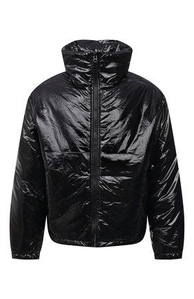 Мужская утепленная куртка ACNE STUDIOS черного цвета, арт. C90066/M   Фото 1 (Материал внешний: Синтетический материал; Длина (верхняя одежда): Короткие; Рукава: Длинные; Материал подклада: Синтетический материал; Кросс-КТ: Куртка; Мужское Кросс-КТ: утепленные куртки; Стили: Гранж)