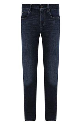 Мужские джинсы Z ZEGNA темно-синего цвета, арт. VY797/ZZ530   Фото 1 (Длина (брюки, джинсы): Стандартные; Материал внешний: Хлопок; Кросс-КТ: Деним; Силуэт М (брюки): Прямые; Детали: Потертости; Стили: Кэжуэл)