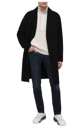 Мужские джинсы Z ZEGNA темно-синего цвета, арт. VY797/ZZ530   Фото 2 (Длина (брюки, джинсы): Стандартные; Материал внешний: Хлопок; Кросс-КТ: Деним; Силуэт М (брюки): Прямые; Детали: Потертости; Стили: Кэжуэл)