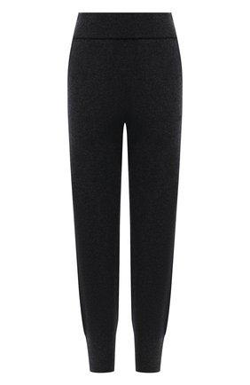 Женские джоггеры из шерсти и кашемира BOSS темно-серого цвета, арт. 50453059 | Фото 1 (Длина (брюки, джинсы): Стандартные; Материал внешний: Шерсть; Женское Кросс-КТ: Джоггеры - брюки; Силуэт Ж (брюки и джинсы): Джоггеры; Стили: Спорт-шик)