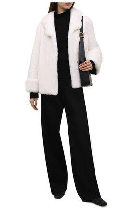 Женская шуба из меха норки KUSSENKOVV кремвого цвета, арт. 761700001550 | Фото 2 (Рукава: Длинные; Длина (верхняя одежда): Короткие; Материал внешний: Натуральный мех; Женское Кросс-КТ: Мех; Стили: Классический)