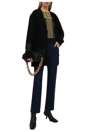 Женский кардиган BURBERRY черного цвета, арт. 8044907 | Фото 2 (Длина (для топов): Удлиненные; Материал внешний: Шерсть, Кашемир; Рукава: Длинные; Женское Кросс-КТ: кардиган-трикотаж; Стили: Кэжуэл)