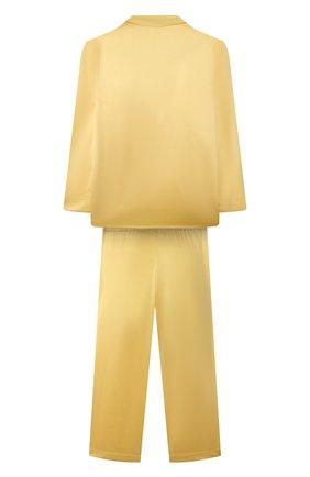 Детская шелковая пижама LITTLE YOLKE желтого цвета, арт. C0RE-12S-SUN-YE | Фото 2 (Рукава: Длинные; Материал внешний: Шелк)