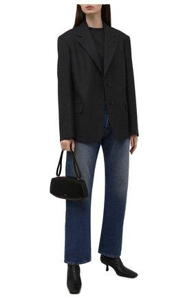 Женская хлопковая футболка BALENCIAGA темно-серого цвета, арт. 675016/TLV99 | Фото 2 (Материал внешний: Хлопок; Рукава: Короткие; Длина (для топов): Удлиненные; Женское Кросс-КТ: Футболка-одежда; Стили: Спорт-шик; Принт: С принтом)