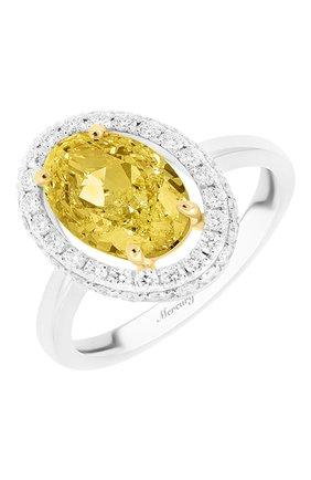 Женские кольцо MERCURY бесцветного цвета, арт. MR28348WYD | Фото 1 (Материал сплава: Белое золото, Желтое золото; Драгоценные камни: Бриллианты)