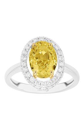 Женские кольцо MERCURY бесцветного цвета, арт. MR28348WYD | Фото 2 (Материал сплава: Белое золото, Желтое золото; Драгоценные камни: Бриллианты)