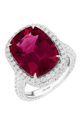 Женские кольцо MERCURY бесцветного цвета, арт. MR28110WDRUB | Фото 1 (Материал сплава: Белое золото; Драгоценные камни: Бриллианты, Другие)