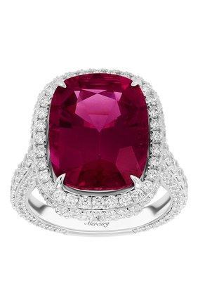 Женские кольцо MERCURY бесцветного цвета, арт. MR28110WDRUB | Фото 2 (Материал сплава: Белое золото; Драгоценные камни: Бриллианты, Другие)