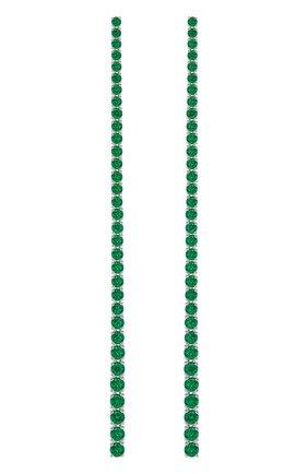 Женские серьги MERCURY бесцветного цвета, арт. ME26064/WG/EMSTR1.00 | Фото 1 (Материал сплава: Белое золото; Драгоценные камни: Изумруды)