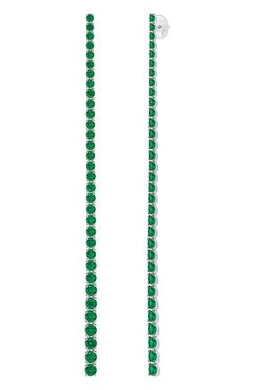 Женские серьги MERCURY бесцветного цвета, арт. ME26064/WG/EMSTR1.00 | Фото 2 (Материал сплава: Белое золото; Драгоценные камни: Изумруды)