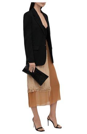 Женская юбка DRIES VAN NOTEN бежевого цвета, арт. 212-010896-3293 | Фото 2 (Материал внешний: Вискоза; Женское Кросс-КТ: Юбка-одежда; Стили: Романтичный; Длина Ж (юбки, платья, шорты): Миди)