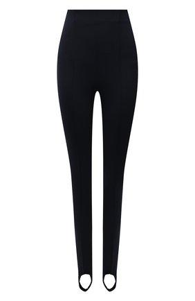 Женские брюки со штрипками KITON черного цвета, арт. D50118K06S40   Фото 1 (Материал внешний: Хлопок, Синтетический материал; Длина (брюки, джинсы): Стандартные; Силуэт Ж (брюки и джинсы): Узкие; Женское Кросс-КТ: Брюки-одежда; Стили: Спорт-шик)