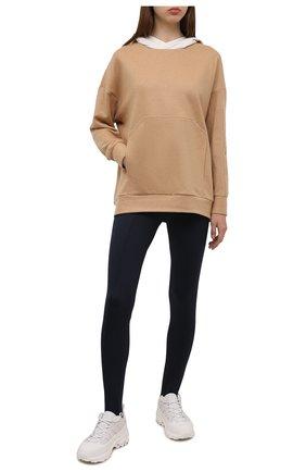 Женские брюки со штрипками KITON черного цвета, арт. D50118K06S40   Фото 2 (Материал внешний: Хлопок, Синтетический материал; Длина (брюки, джинсы): Стандартные; Силуэт Ж (брюки и джинсы): Узкие; Женское Кросс-КТ: Брюки-одежда; Стили: Спорт-шик)