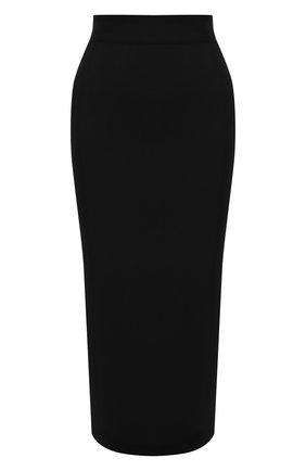 Женская юбка из вискозы DOLCE & GABBANA черного цвета, арт. FXD41T/JBMS0 | Фото 1 (Длина Ж (юбки, платья, шорты): Миди; Материал внешний: Вискоза; Женское Кросс-КТ: Юбка-одежда; Стили: Кэжуэл)