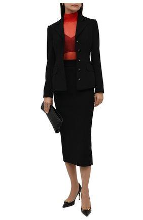 Женская юбка из вискозы DOLCE & GABBANA черного цвета, арт. FXD41T/JBMS0 | Фото 2 (Длина Ж (юбки, платья, шорты): Миди; Материал внешний: Вискоза; Женское Кросс-КТ: Юбка-одежда; Стили: Кэжуэл)