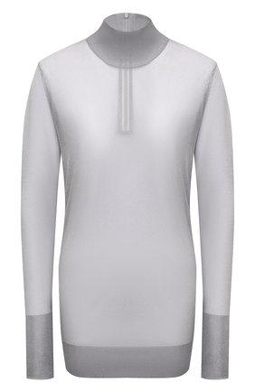 Женская водолазка DOLCE & GABBANA серого цвета, арт. FXE94T/JCMP3 | Фото 1 (Рукава: Длинные; Материал внешний: Синтетический материал; Длина (для топов): Удлиненные; Женское Кросс-КТ: Водолазка-одежда; Стили: Гламурный)
