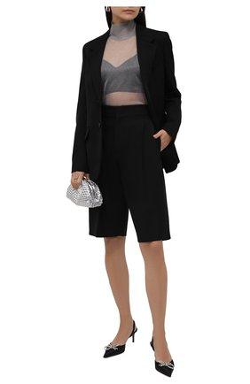 Женская водолазка DOLCE & GABBANA серого цвета, арт. FXE94T/JCMP3 | Фото 2 (Рукава: Длинные; Материал внешний: Синтетический материал; Длина (для топов): Удлиненные; Женское Кросс-КТ: Водолазка-одежда; Стили: Гламурный)