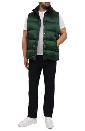 Мужской пуховый жилет gregory-sh MOORER зеленого цвета, арт. GREG0RY-SH/M0UGL100061-TEPA174/60-68 | Фото 2 (Материал внешний: Синтетический материал; Материал подклада: Синтетический материал; Материал утеплителя: Пух и перо; Длина (верхняя одежда): Короткие; Кросс-КТ: Куртка, Пуховик; Стили: Кэжуэл; Big sizes: Big Sizes)