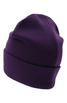 Мужская шапка COMME DES FUCKDOWN фиолетового цвета, арт. CDFA570   Фото 2 (Материал: Шерсть, Текстиль, Синтетический материал; Кросс-КТ: Трикотаж)