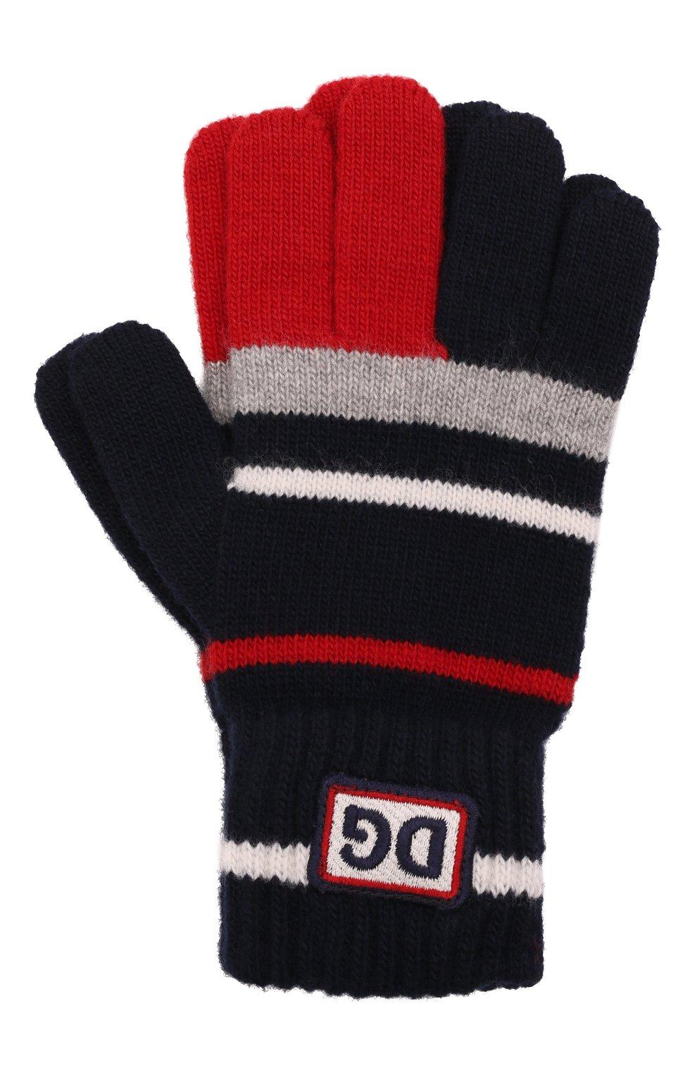 Детские шерстяные перчатки DOLCE & GABBANA разноцветного цвета, арт. LBKA66/JBVE4   Фото 1 (Материал: Шерсть)