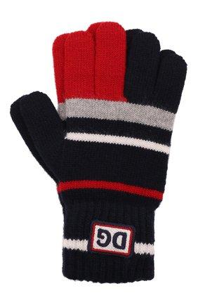 Детские шерстяные перчатки DOLCE & GABBANA разноцветного цвета, арт. LBKA66/JBVE4 | Фото 1 (Материал: Шерсть)