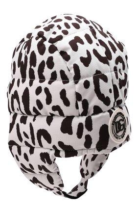 Детского шапка DOLCE & GABBANA черно-белого цвета, арт. LB4H98/G7BIR   Фото 2 (Материал: Текстиль, Синтетический материал)