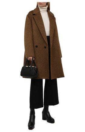 Женские кожаные ботильоны irenn CHLOÉ черного цвета, арт. CHC21A464T1 | Фото 2 (Материал внутренний: Натуральная кожа; Каблук высота: Высокий; Подошва: Платформа; Каблук тип: Устойчивый)