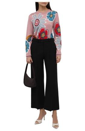 Женский шелковый пуловер DOLCE & GABBANA разноцветного цвета, арт. FXD08T/JASPL | Фото 2 (Рукава: Длинные; Материал внешний: Шелк; Длина (для топов): Удлиненные; Стили: Кэжуэл; Женское Кросс-КТ: Пуловер-одежда)