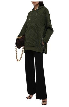 Женский худи balmain x rossignol BALMAIN хаки цвета, арт. WH0JT000/J296   Фото 2 (Материал внешний: Синтетический материал, Вискоза; Длина (для топов): Удлиненные; Рукава: Длинные; Стили: Спорт-шик; Женское Кросс-КТ: Худи-одежда)