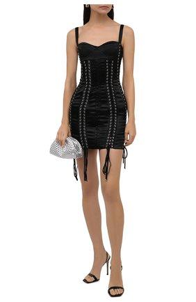 Женское платье DOLCE & GABBANA черного цвета, арт. F6Z3UT/FURAD | Фото 2 (Длина Ж (юбки, платья, шорты): Мини; Материал подклада: Синтетический материал; Материал внешний: Синтетический материал; Стили: Гламурный; Случай: Вечерний; Женское Кросс-КТ: платье-футляр, Платье-одежда)