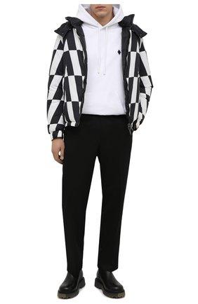 Мужские кожаные сапоги OFF-WHITE черного цвета, арт. 0MID004F21LEA0011056 | Фото 2 (Подошва: Массивная; Материал внутренний: Натуральная кожа; Каблук высота: Высокий; Мужское Кросс-КТ: Сапоги-обувь)