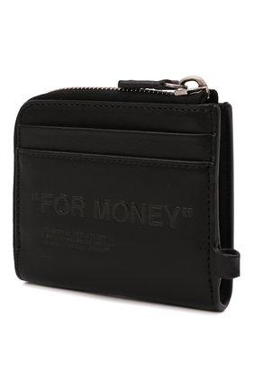 Мужской кожаный футляр для монет OFF-WHITE черного цвета, арт. 0MNC021F21LEA001   Фото 2