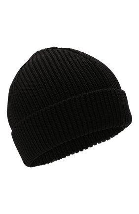 Мужская шерстяная шапка OFF-WHITE черного цвета, арт. 0MLC016F21KNI001   Фото 1 (Материал: Шерсть; Кросс-КТ: Трикотаж)