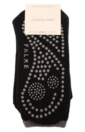 Женские носки FALKE черного цвета, арт. 47540 | Фото 1 (Материал внешний: Хлопок)