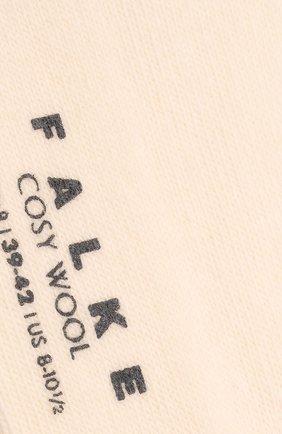 Женские носки FALKE кремвого цвета, арт. 47548 | Фото 2 (Материал внешний: Шерсть)