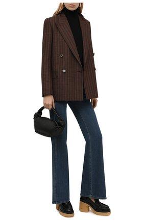 Женские кожаные туфли jamie CHLOÉ черного цвета, арт. CHC21W524D5   Фото 2 (Подошва: Платформа; Каблук высота: Высокий; Материал внутренний: Натуральная кожа; Каблук тип: Устойчивый)