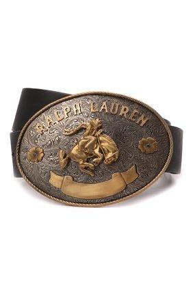 Мужской кожаный ремень RALPH LAUREN черного цвета, арт. 404849279 | Фото 1 (Случай: Повседневный)