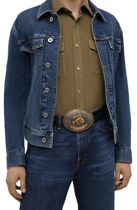 Мужской кожаный ремень RALPH LAUREN черного цвета, арт. 404849279 | Фото 2 (Случай: Повседневный)