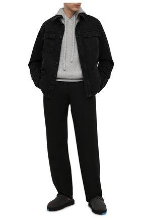 Мужская джинсовая куртка OFF-WHITE черного цвета, арт. 0MYE070F21DEN001   Фото 2 (Материал внешний: Хлопок; Кросс-КТ: Куртка, Деним; Длина (верхняя одежда): Короткие; Стили: Гранж; Рукава: Длинные)