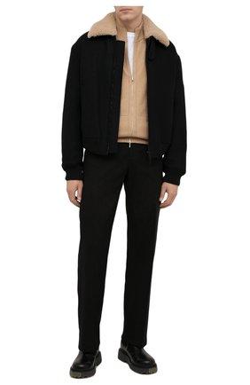 Мужские кожаные челси OFF-WHITE черного цвета, арт. 0MIE002F21LEA0011056 | Фото 2 (Материал внутренний: Натуральная кожа; Каблук высота: Высокий; Подошва: Массивная; Мужское Кросс-КТ: Сапоги-обувь, Челси-обувь)