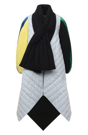 Женское утепленное пальто LOEWE разноцветного цвета, арт. S540Y02X26 | Фото 1 (Рукава: Длинные; Длина (верхняя одежда): Длинные; Стили: Гламурный; Материал подклада: Хлопок; Материал внешний: Хлопок; 1-2-бортные: Однобортные)