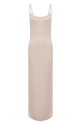 Женское кашемировое платье LISA YANG бежевого цвета, арт. 202184   Фото 1 (Материал внешний: Шерсть, Кашемир; Стили: Кэжуэл; Длина Ж (юбки, платья, шорты): Миди; Случай: Повседневный; Кросс-КТ: Трикотаж; Женское Кросс-КТ: Платье-одежда)