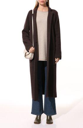 Женский кашемировый пуловер LISA YANG бежевого цвета, арт. 202176   Фото 2 (Материал внешний: Шерсть, Кашемир; Длина (для топов): Удлиненные; Женское Кросс-КТ: Пуловер-одежда; Рукава: Длинные; Стили: Кэжуэл)