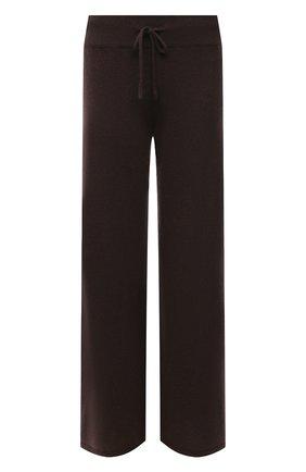 Женские кашемировые брюки LISA YANG темно-коричневого цвета, арт. 202143   Фото 1 (Материал внешний: Шерсть, Кашемир; Длина (брюки, джинсы): Стандартные; Стили: Кэжуэл; Женское Кросс-КТ: Брюки-одежда; Силуэт Ж (брюки и джинсы): Широкие; Кросс-КТ: Трикотаж)