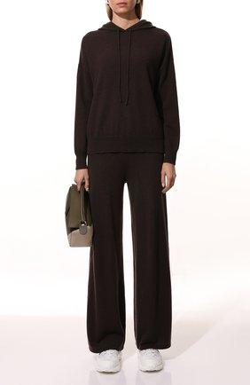 Женские кашемировые брюки LISA YANG темно-коричневого цвета, арт. 202143   Фото 2 (Материал внешний: Шерсть, Кашемир; Длина (брюки, джинсы): Стандартные; Стили: Кэжуэл; Женское Кросс-КТ: Брюки-одежда; Силуэт Ж (брюки и джинсы): Широкие; Кросс-КТ: Трикотаж)