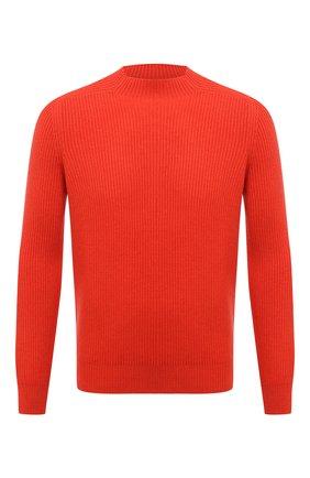Мужской свитер из шерсти и кашемира GRAN SASSO оранжевого цвета, арт. 23134/19656 | Фото 1 (Материал внешний: Шерсть; Длина (для топов): Стандартные; Рукава: Длинные; Мужское Кросс-КТ: Свитер-одежда; Принт: Без принта; Стили: Кэжуэл)