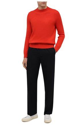 Мужской свитер из шерсти и кашемира GRAN SASSO оранжевого цвета, арт. 23134/19656 | Фото 2 (Материал внешний: Шерсть; Длина (для топов): Стандартные; Рукава: Длинные; Мужское Кросс-КТ: Свитер-одежда; Принт: Без принта; Стили: Кэжуэл)