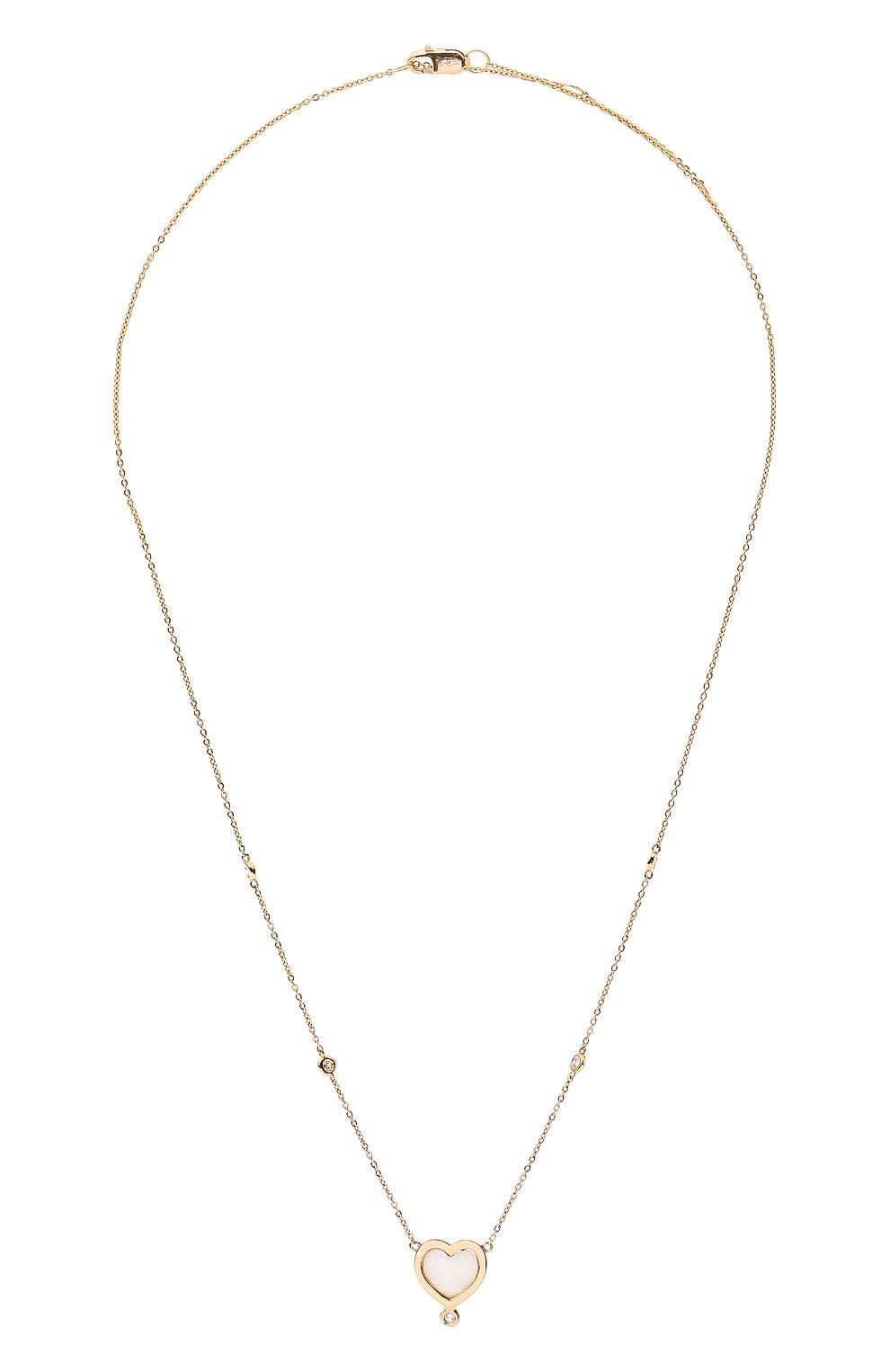 Женское колье J-POINT золотого цвета, арт. ИПГ857.59.230721.15Y   Фото 1 (Материал: Золото)